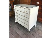 Shabby Chic Vintage Chest Of Drawers