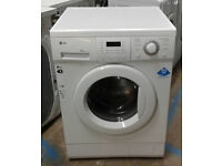 b468 white LG 8kg 1200spin washing machine comes with warranty can be delivered or collected