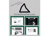Bespoke web design - richard downham - full webdesign from £300