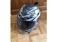 Duchinni helmet size XL good condition £20 Ono. Only been used once.