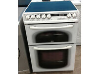 a081 white creda 60cm double oven ceramic electric cooker comes with warranty can be delivered