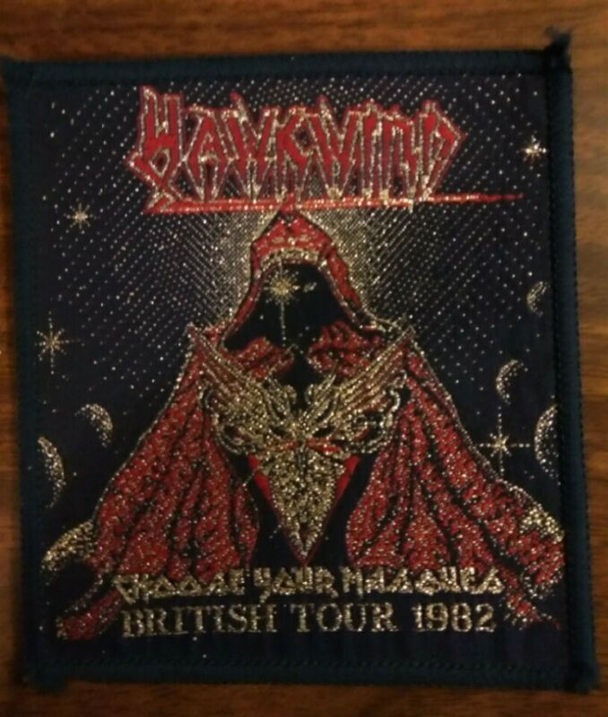 HAWKWIND sew-on PATCH Choose Your Masques 1982 original UK woven VINTAGE