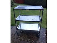 Stainless Steel Catering Trolley 3 tier