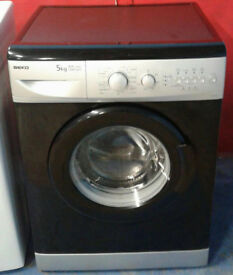 k385 black & silver beko 5kg 1200spin washing machine comes with warranty can be delivered