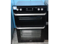 a399 black beko double integrated electric oven comes with warranty can be delivered or collected