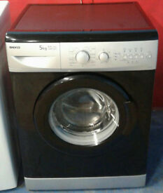 m385 black & silver beko 5kg 1200spin AA rated washing machine comes with warranty can be delivered