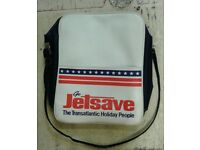 Vintage retro 1970s Go Jetsave flight bag.