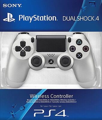 Sony PlayStation 4 PS4 Dualshock 4 Wireless Controller (Silver) Brand New