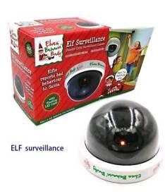 Elves behavin badly surveillance camera