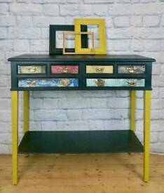 Retro console table, hall table, sideboard