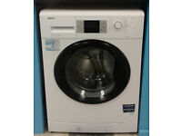 L044 white & black beko 8kg 1200spin A+ rated washing machine comes with warranty can be delivered