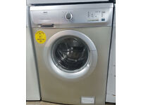l266 silver zanussi 6kg 1200spin washing machine comes with warranty can be delivered or collected