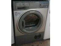 p734 graphite hotpoint 8kg condenser dryer comes with warranty can be delivered or collected