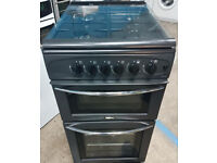y492 black belling 50cm single oven gas cooker comes with warranty can be delivered or collected