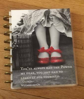 Red Slipper Quote Frontback Cover Set Made For Use W Happy Planner