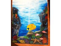 Large painting on canvas 1mx80cm