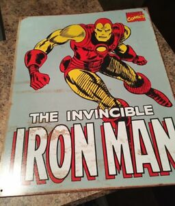 Iron Man Tin Sign