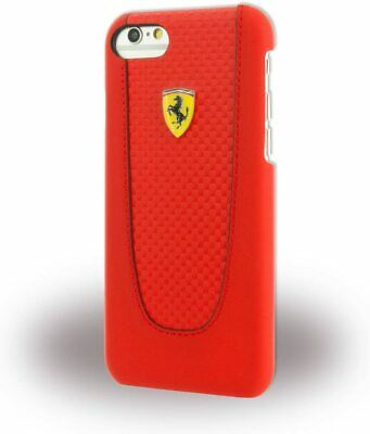 Ferrari Pit Stop Red Hard Carbon Fiber Case iPhone 7 / iPhone 8