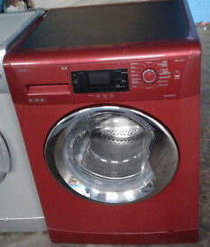 p208 red beko 9kg 1400spin A++ rated washing machine comes with warranty can be delivered