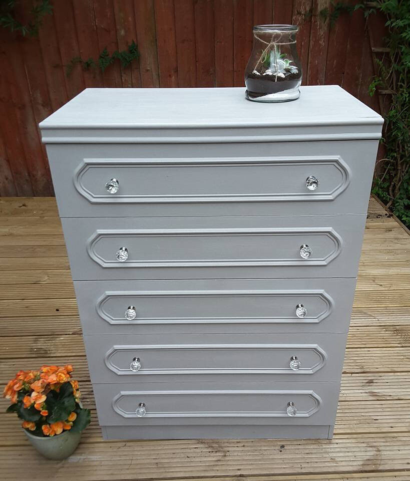 chalk painting chest of drawers chest of 5 drawers hand painted annie sloan paris grey chalk paint