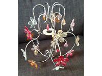 Pretty Glass effect Flower Chandelier Light Fitting max 60 W