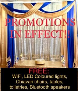 Special events: birthday party, baby shower, receptions, dinners
