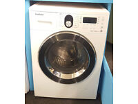 X94 white & chrome samsung 7+5kg washer dryer comes with warranty can be delivered or collected