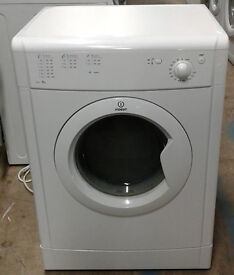 B569 white indesit 6kg vented dryer comes with warranty can be delivered or collected