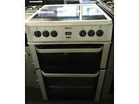 C154 silver beko 60cm double oven ceramic hob electric cooker comes with warranty can be delivered