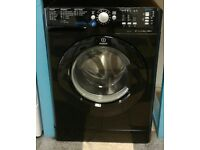 i268 black indesit 8kg 1200spin A** rated washing machine comes with warranty can be delivered
