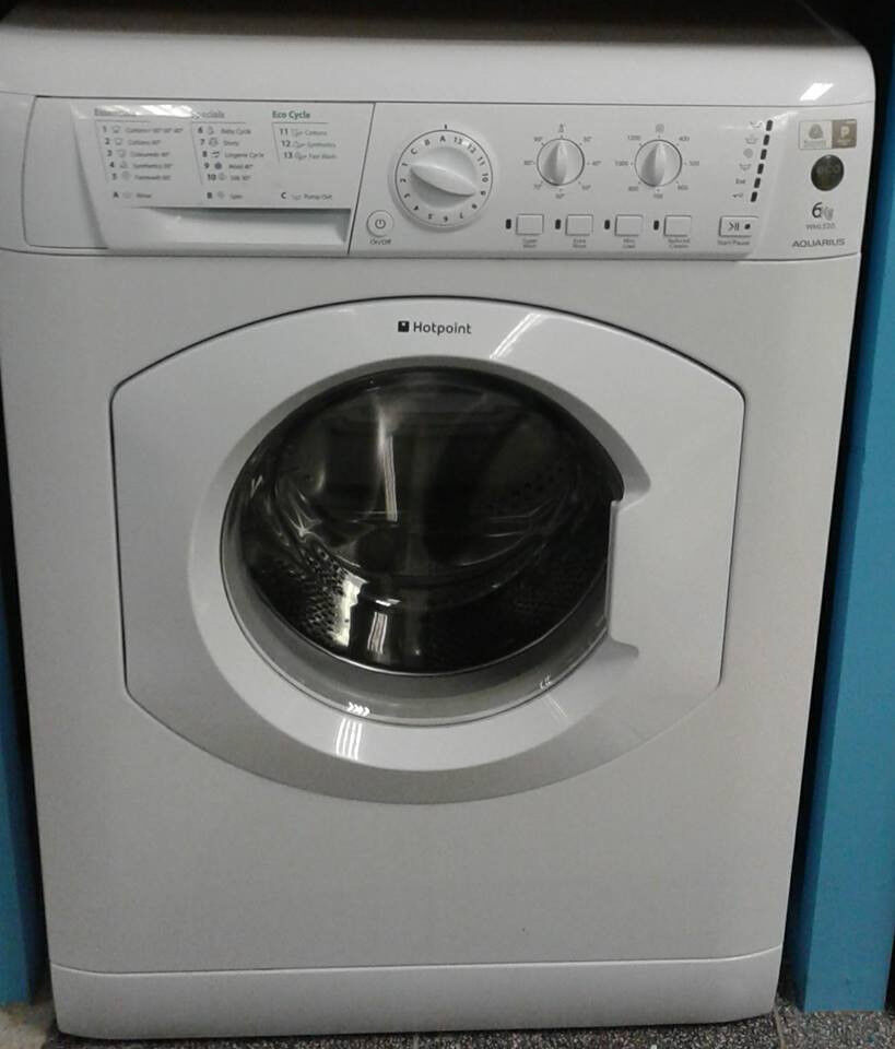 H080 white hotpoint 6kg 1200spin washing machine comes with warranty can be delivered or collected
