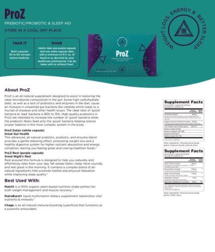 New TLC ProZ Prebiotic/Probiotic Sleep Aid That Detoxes & He