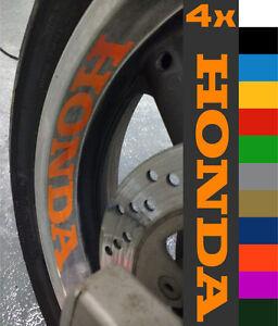 4x HONDA CBR 1000RR CBF Fireblade VFR 600RR Wheel Rim Sticker Decal Motorcycle