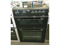 C140 black beko 60cm double oven ceramic hob electric cooker comes with warranty can be delivered