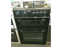 H140 black beko 60cm double oven ceramic hob electric cooker comes with warranty can be delivered