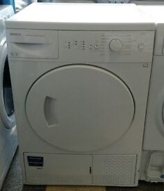 g679 white beko 8kg B rated condenser dryer comes with warranty can be delivered or collected