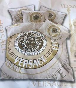 Brand New VERSACE 4 piece Queen Bed Quilt Cover Set Greenwith Tea Tree Gully Area Preview