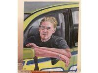 Paul Walker Painting - In oils, Original art not a print