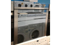 b787 stainless steel & blue mirror finish smeg single electric oven comes with warranty