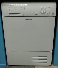 g282 white hotpoint 7kg condenser dryer comes with warranty can be delivered or collected