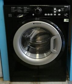 g788 black hotpoint 8kg 1400spin washing machine comes with warranty can be delivered or collected