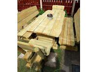 Brand new solid wood handmade garden/patio furniture set