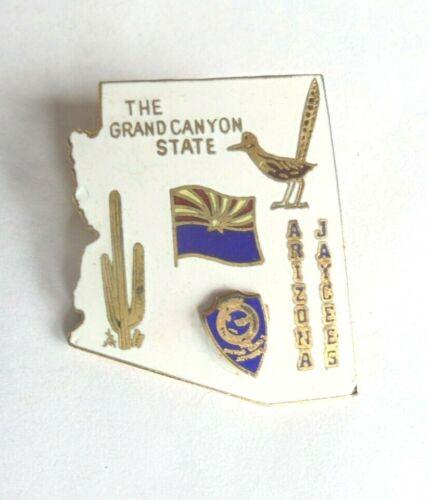 Cool Vintage Arizona Jaycees The Grand Canyon State Enamel Lapel Pin Pinback