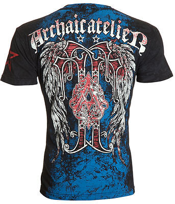 Archaic Affliction Men T Shirt Bundle Wings Tattoo Fight Biker Mma Ufc M 4Xl  40