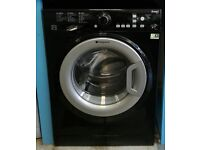 788 black hotpoint 8kg washing machine comes with warranty can be delivered or collected