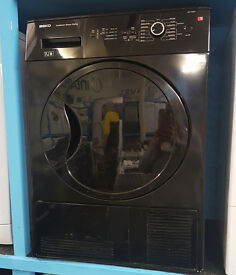 L93 black beko 7kg b rated condenser dryer comes with warranty can be delivered or collected