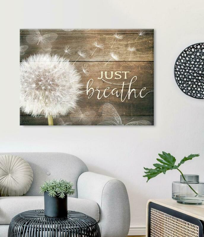 Dandelion Just Breathe Version 2 Satin Landscape Canvas 0.75in