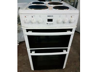 t171 white beko 50cm solid ring double oven electric cooker comes with warranty can be delivered
