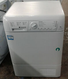 e565 white hotpoint 8kg set & forget condenser dryer comes with warranty can be delivered