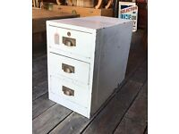 Painted Wooden Filing Cabinet/Chest Of Drawers